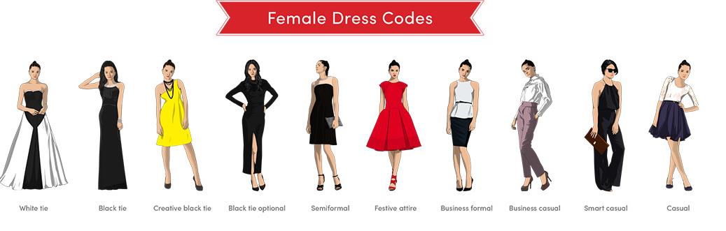 【基本】女性版ドレスコード一覧